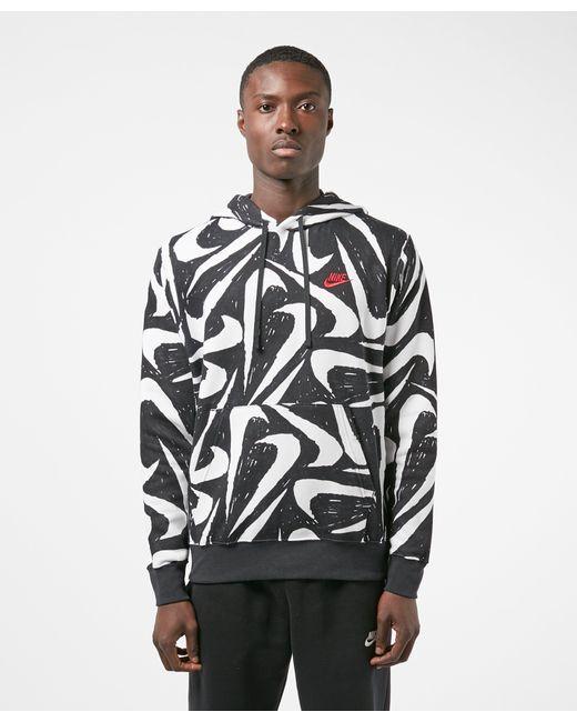 nike all over print swoosh hoodie