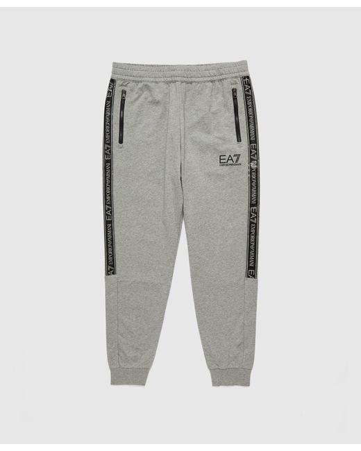 EA7 Gray Tape Joggers for men