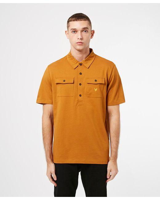 Lyle & Scott Brown Two Pocket Short Sleeve Polo Shirt for men