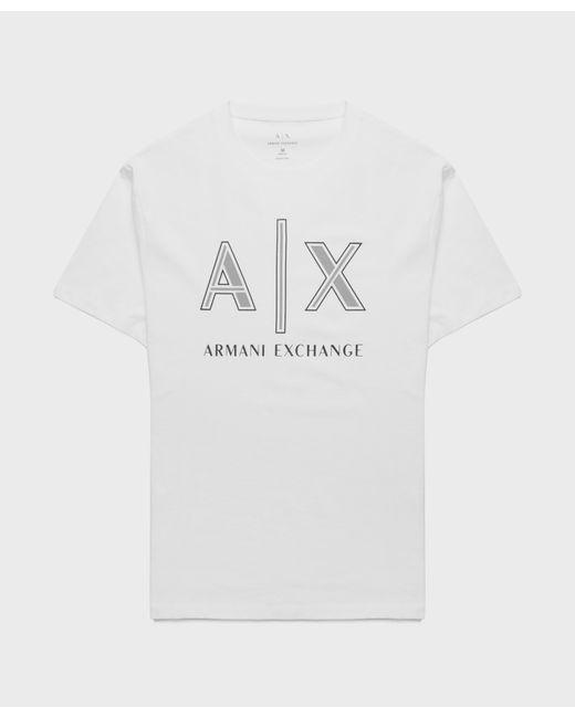 Armani Exchange White Neon Logo T-shirt for men