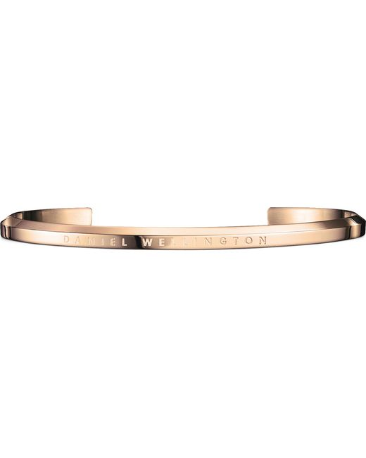 Daniel Wellington - Metallic Classic Cuff Rose-gold Plated Stainless Steel Bracelet Large - Lyst