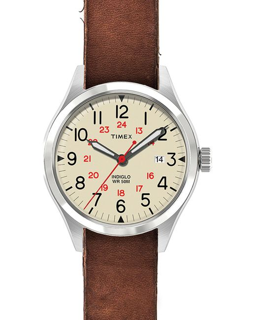 TIMEX ITALY | Black Abt116 Waterbury Stainless Steel And Leather Watch for Men | Lyst