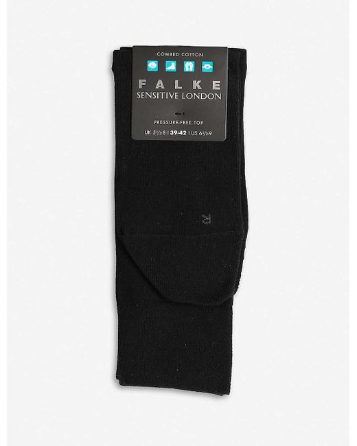 Falke Black Sensitive London Cotton Socks for men