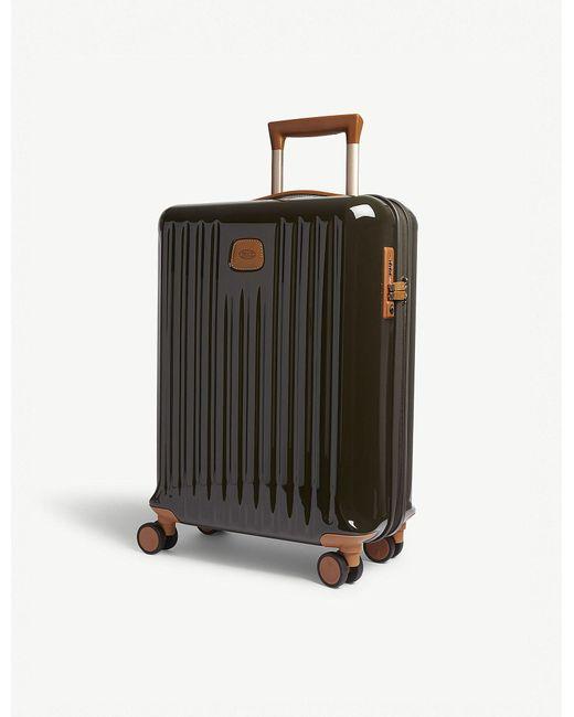 Bric's - Olive Green Stripe Capri Matt Hard Case Carry On Suitcase - Lyst