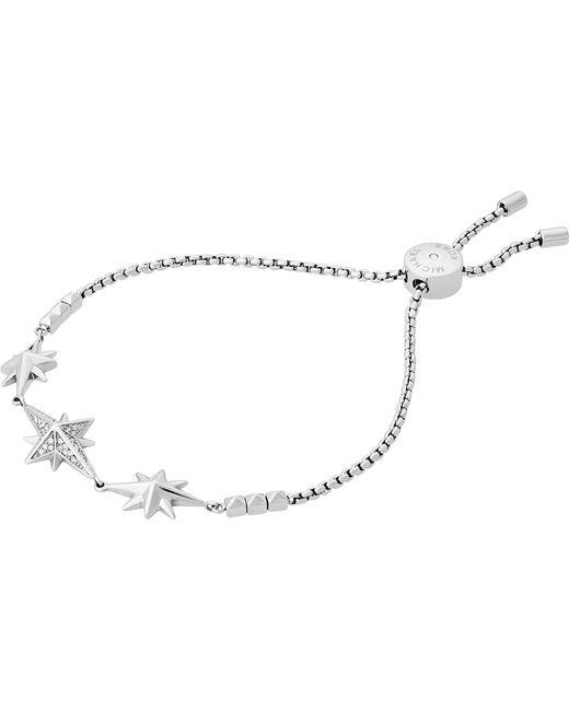 Michael Kors | Metallic Star Silver-toned Cubic Zirconia Bracelet | Lyst