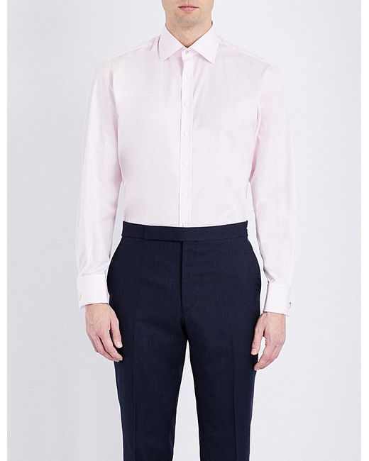 Thomas Pink | Multicolor Dowson Plain Slim-fit Cotton Shirt for Men | Lyst