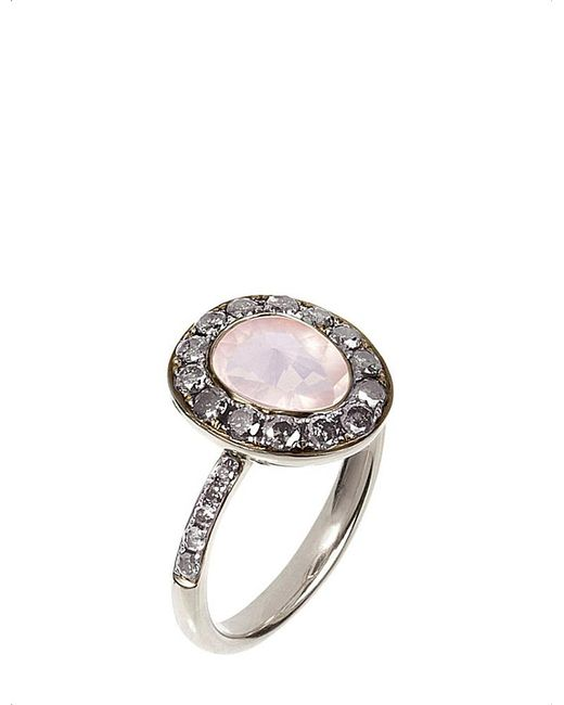 Annoushka | Metallic Dusty Diamonds 18ct White-gold And Diamond Eternity Ring | Lyst