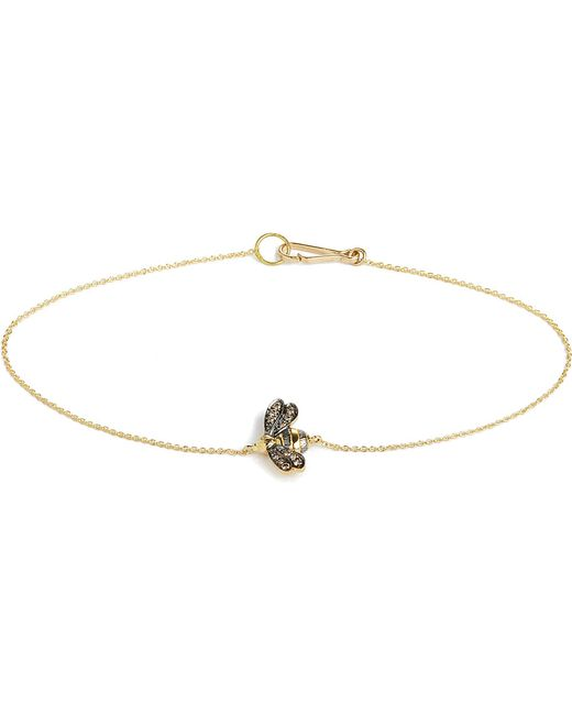 Annoushka | Love Diamonds 18ct Yellow-gold Bee Bracelet | Lyst
