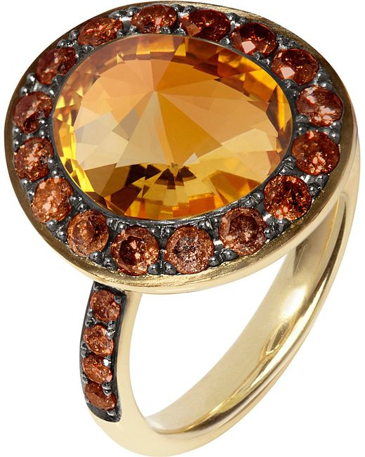 Annoushka | Orange Dusty Diamonds 18ct Yellow-gold | Lyst