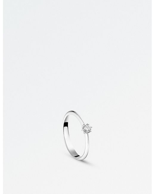 BUCHERER JEWELLERY - Solitaire Heaven 18ct White Gold And Diamond Ring - Lyst