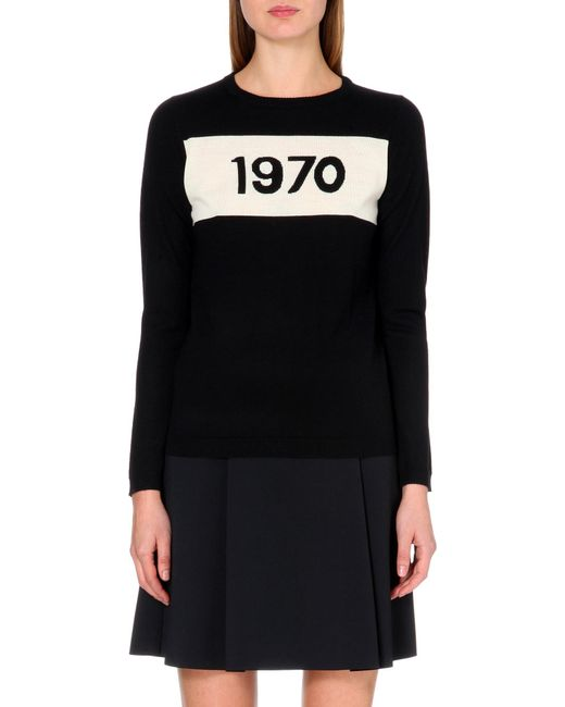 Bella Freud - Black 1970 Wool Jumper - Lyst