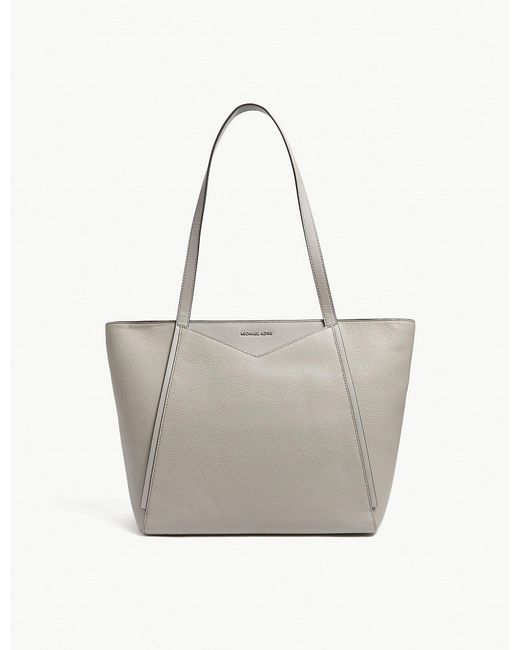 MICHAEL Michael Kors - Gray Whitney Large Grained Leather Tote - Lyst
