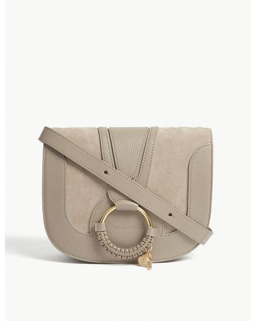 See By Chloé - Gray Hana Medium Leather Saddle Bag - Lyst