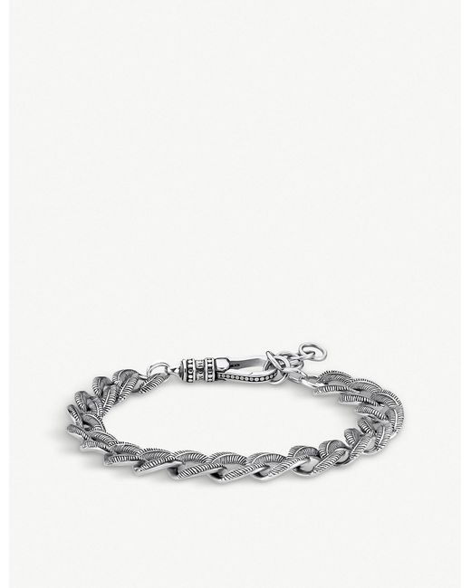 Thomas Sabo - Metallic Rebel Iconic Feather Chain Bracelet - Lyst