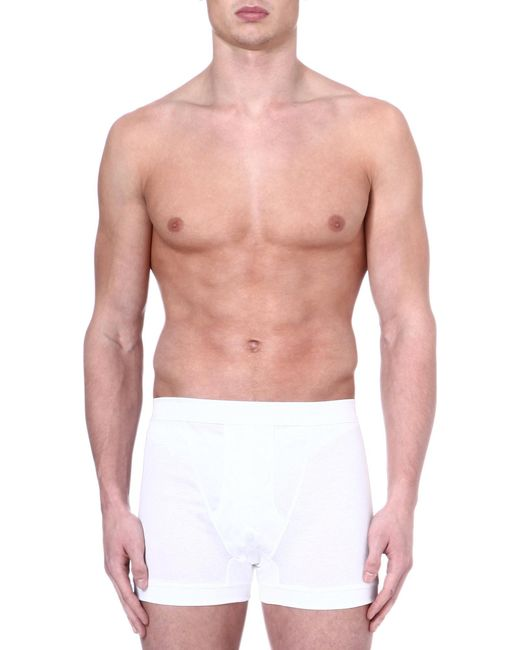 Zimmerli | White Royal Classic Cotton Boxers for Men | Lyst