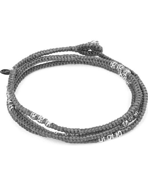 M. Cohen | Gray Knotted 4 Layer Thai Stamp Wrap Bracelet for Men | Lyst