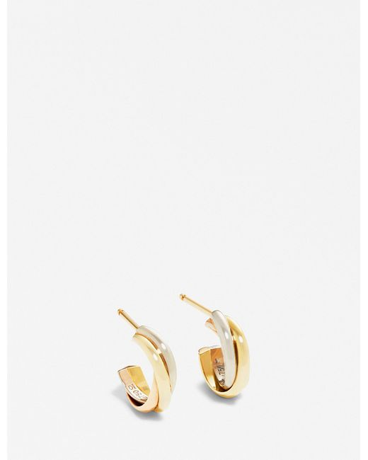 Cartier - Metallic Trinity 18ct Gold Small Mini Earrings - Lyst