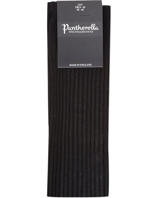 Pantherella - Black Cotton Ribbed Knee-high Socks for Men - Lyst