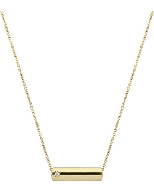 The Alkemistry - Metallic Star Bar 9ct Yellow Gold And Diamond Necklace - Lyst