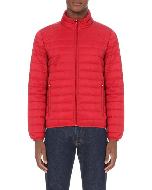 Armani Jeans | Red Quilted Shell Jacket for Men | Lyst
