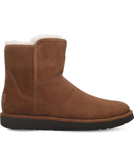 Ugg - Brown Abree Mini Suede Ankle Boots - Lyst
