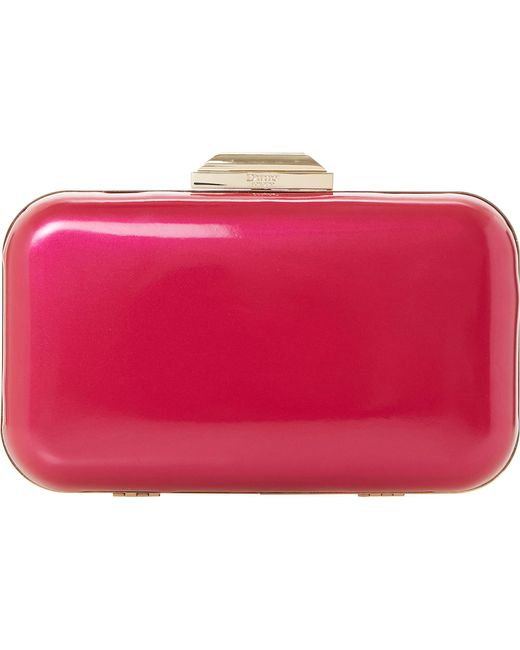 Dune | Pink Beverlie Patent Box Clutch | Lyst