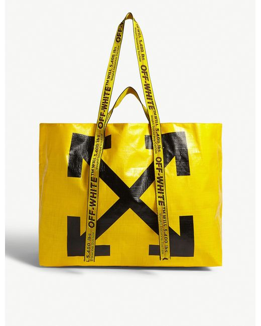 Off-White c/o Virgil Abloh Yellow Off Tote Bag Ld94