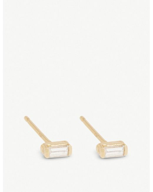The Alkemistry - Metallic Zoë Chicco 14ct Yellow-gold And Diamond Earrings - Lyst