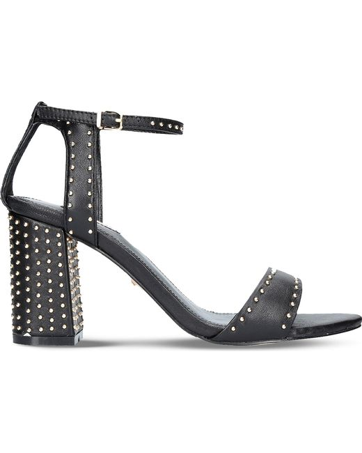 Carvela Kurt Geiger | Black Gogo Leather Block Heel Sandals | Lyst