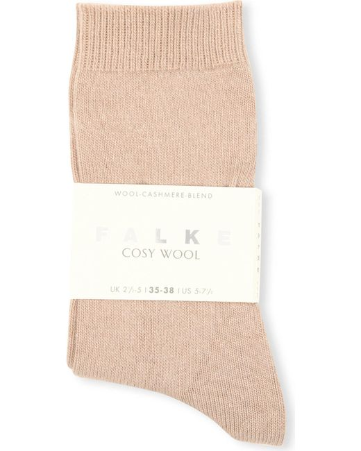 Falke - Natural Cosy Wool Cashmere Socks - Lyst
