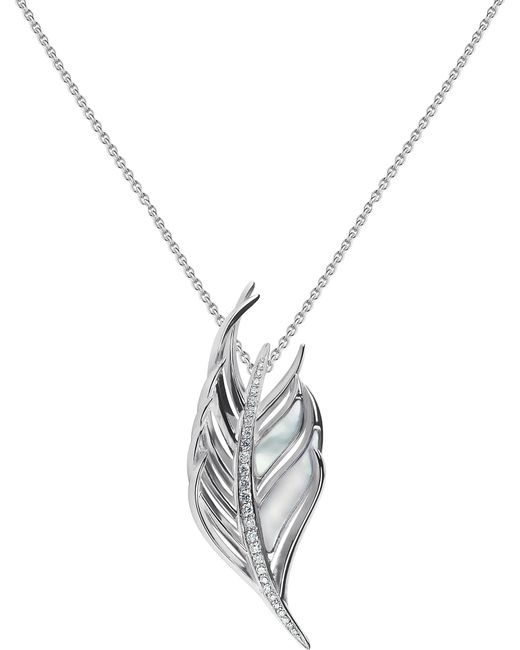 Shaun Leane - Metallic White Feather Diamond And Mother Of Pearl Necklace - Lyst