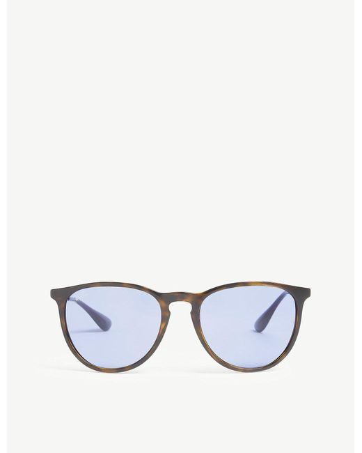3b90f7c7c4 Ray-Ban Rb4171 Erika Pilot-frame Sunglasses in Blue for Men - Lyst