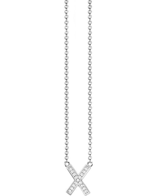 Thomas Sabo - Metallic Classic X Sterling Silver And Zirconia Necklace - Lyst
