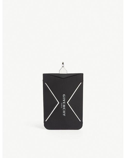 Givenchy Black Neck Strap Phone Case for men