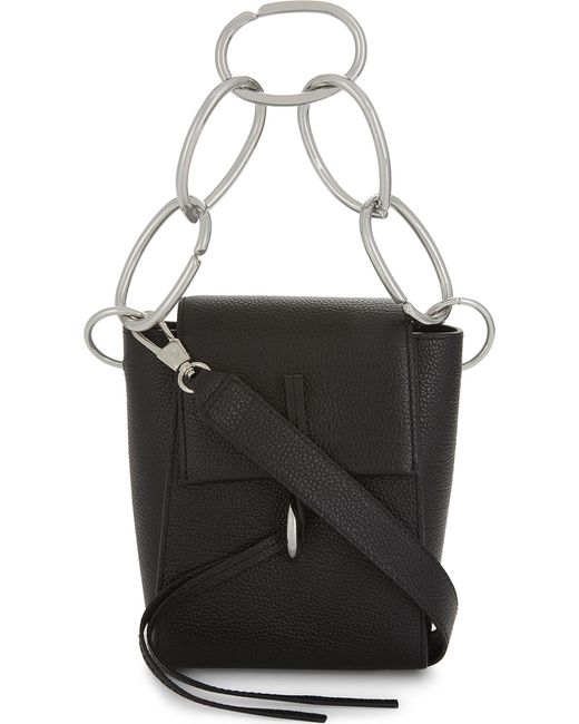 3.1 Phillip Lim | Black Leigh Chain-link Leather Shoulder Bag | Lyst