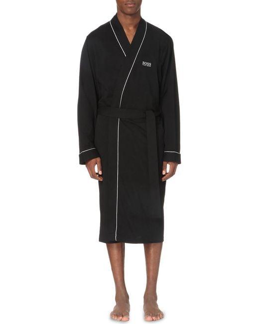 BOSS Black Kimono Cotton Dressing Gown for men