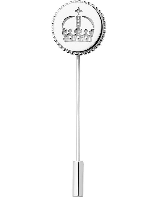 Links of London | Metallic Ascot Sterling Silver Crown Lapel Pin | Lyst