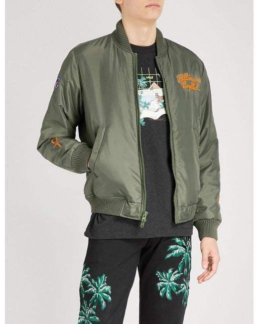 BBCICECREAM - Green Egypt-motif Shell Bomber Jacket for Men - Lyst