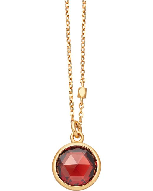 Astley Clarke | Metallic Stilla 18ct Gold-plated Garnet Pendant Necklace | Lyst