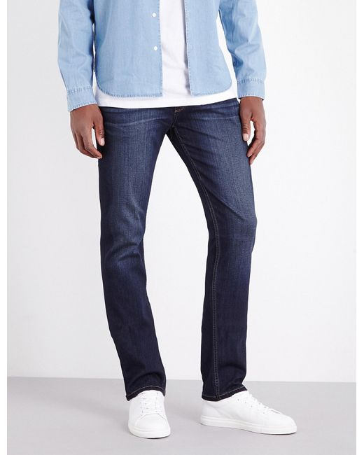 PAIGE - Blue Federal Slim-fit Tapered Jeans for Men - Lyst