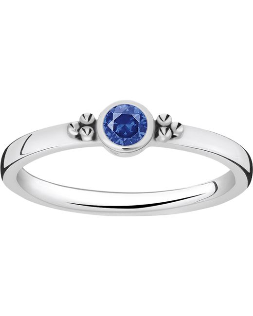 Thomas Sabo - Metallic Royalty Blue Stone Sterling Silver Stacking Ring - Lyst