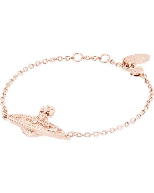 Vivienne Westwood - Metallic Mini Bas Relief Diamante Orb Bracelet - Lyst