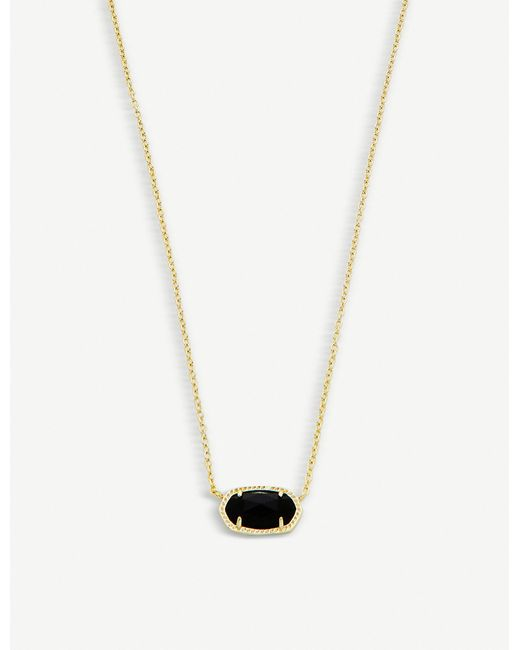 Kendra Scott - Black 'elisa' Pendant Necklace - Lyst
