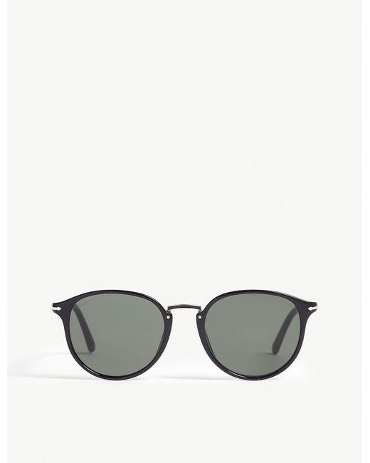 Persol - Black Po3210s Oval-frame Sunglasses for Men - Lyst