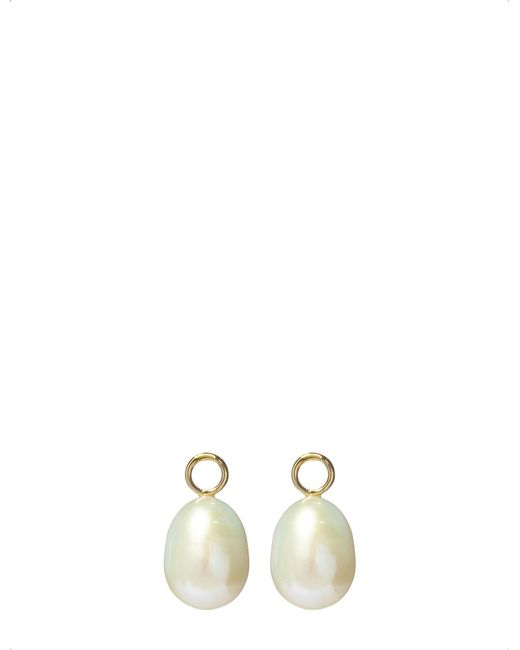 Annoushka - Metallic Classic Baroque 18ct Yellow Gold And Pearl Earring Drops - Lyst