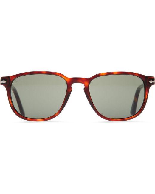 4f036a0394 Persol - Brown Suprema Tortoiseshell Round-frame Sunglasses for Men - Lyst