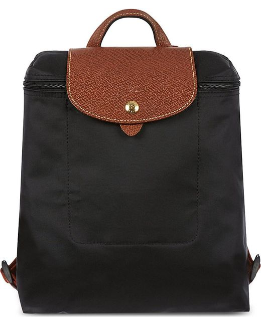 Longchamp | Black Le Pliage Backpack | Lyst