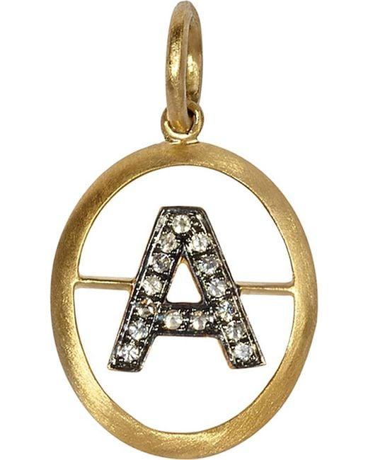 Annoushka | Metallic 18ct Yellow-gold And Diamond A Pendant | Lyst