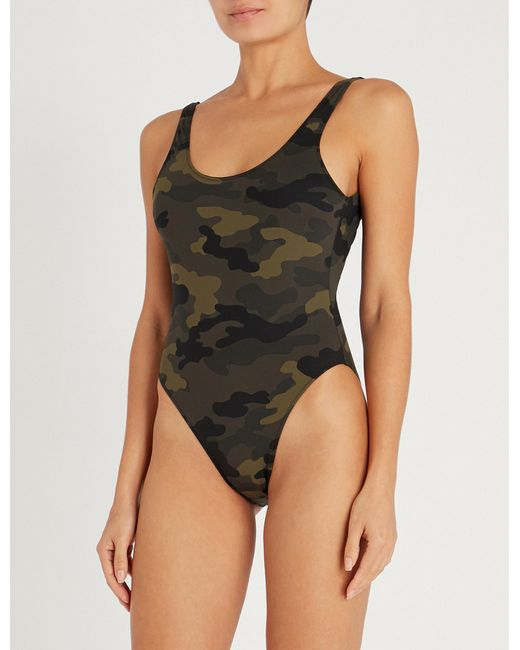 dbad178611654 The Upside - Multicolor Camouflage Claudina Scoop-neck Swimsuit - Lyst