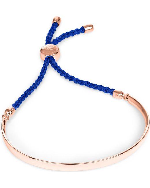 Monica Vinader   Pink Fiji 18ct Rose Gold-plated Friendship Bracelet   Lyst